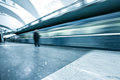 Spacious public metro marble station Royalty Free Stock Images
