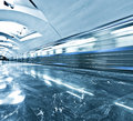 Spacious public metro marble station Royalty Free Stock Image