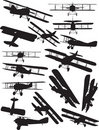 Spad silhouettes Royalty Free Stock Images