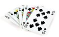 Spade royal flush Stock Photos