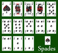 Spades cards Stock Images