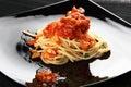 Spagetti tomato Royalty Free Stock Photo