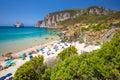 Spaggia di Masua beach and Pan di Zucchero, Costa Verde, Sardinia, Italy Royalty Free Stock Photo