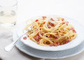Spaghetti alla carbonara Stock Photography