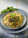 Spaghetti with anchovies Royalty Free Stock Photos