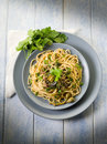 Spaghetti with anchovies Royalty Free Stock Photo