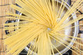 Spaghetti boiling in pan on electric stove Royalty Free Stock Photo