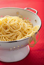 Spaghetti in colander Royalty Free Stock Image
