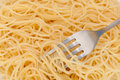 Spaghetti and Fork Royalty Free Stock Photography
