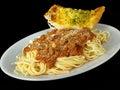 Špagety a cesnak chlieb