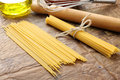 Spaghetti - Italian raw pasta Royalty Free Stock Photography