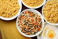 Spaghetti and macaroni Stock Image