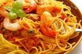 Spaghetti marinara Royalty Free Stock Photo