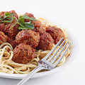 Spaghetti and meat balls Royalty Free Stock Photo