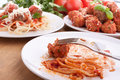 Spaghetti with meatballs Royalty Free Stock Photo
