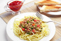 Spaghetti with minced meat Stock Photography