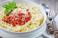 Spaghetti with minced meat Royalty Free Stock Photo
