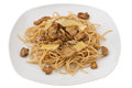 Spaghetti with mushrooms Royalty Free Stock Image