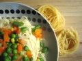 Spaghetti noodles Stock Photos