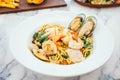 Spaghetti and pasta seafood