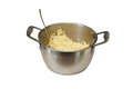 Spaghetti in a saucepan. Royalty Free Stock Photo