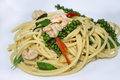 Spaghetti seafood thai kheemao hot and spicy Stock Image