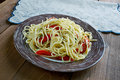 Spaghetti with Spanish flavours Royalty Free Stock Photo