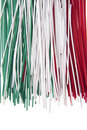Spaghetti tricolor Stock Photos