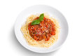 Spaghetti on  white background Royalty Free Stock Photo