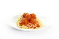 Spaghettti Plate Royalty Free Stock Photos
