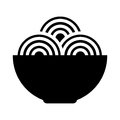 Spaguetti dish isolated icon Royalty Free Stock Photo