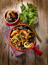 Spahetti with seafood Royalty Free Stock Photography