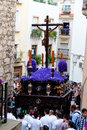 Spain andalucia semana santa andalusia the highlight of holy week processions are the here in jaen Stock Photography