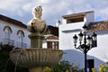 Spain andalusia marbella fountain in old town Stock Image