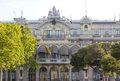 Spain barcelona port authority building in a sunny day Royalty Free Stock Images