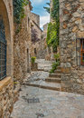 Spain catalonia girona pals the first mention refer to the th century very beautiful medieval town stone streets buildings cozy Stock Photos