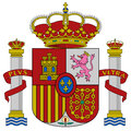 Spain coat of arms Stock Images