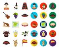 Spain country cartoon,flat icons in set collection for design.Travel and attractions vector symbol stock web Royalty Free Stock Photo