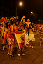 Spain fans Stock Images
