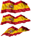 Spain flag angles of the part of a series d illustration Royalty Free Stock Photos