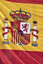 Spain flag detail Royalty Free Stock Photos