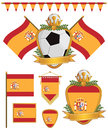 Spain flags Royalty Free Stock Photography