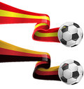 Spain and germany flag with soccer ball Stock Images