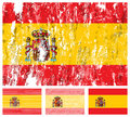 Spain grunge flag set Royalty Free Stock Photography