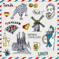 Spain icons Royalty Free Stock Image