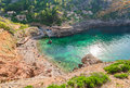Spain Majorca Cala de Deia beach Royalty Free Stock Photo
