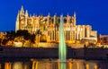 Spain mallorca palma cathedral the la seu as touristenatrraktion in the city center Royalty Free Stock Image