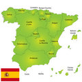Spain map Stock Photos