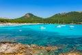 Spain Mediterranean Sea Coast Majorca Beach Cala Agulla Royalty Free Stock Photo