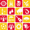 Spain pictograms Stock Images